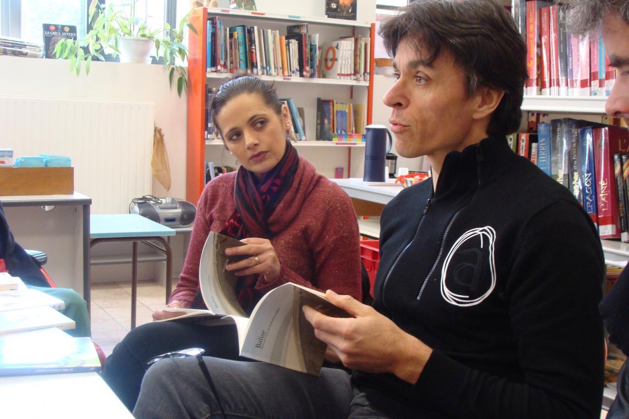 """Richard et Shéhérazade lisent un extrait du dialogue de """"balise"""""""