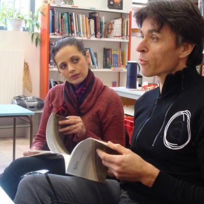 Richard et Shéhérazade lisent un extrait du dialogue de