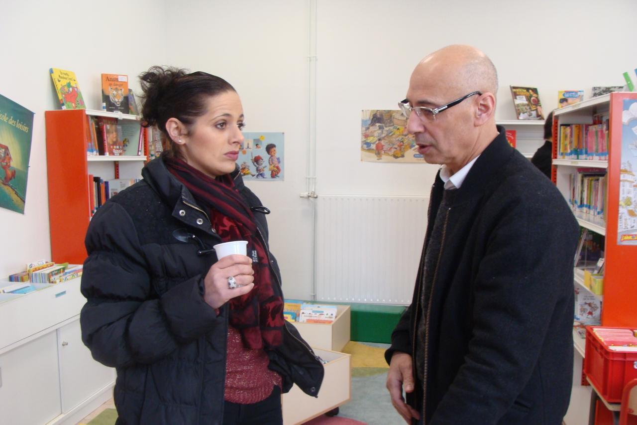 Shéhérazade et Moussa en pleine discusion