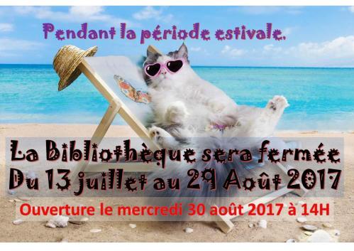 2017 vacances fermeture le 13 07